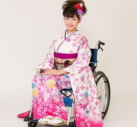 車椅子着物