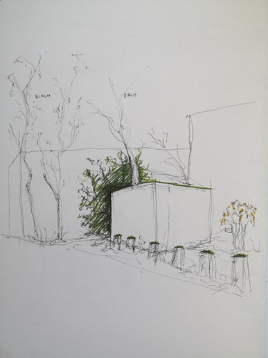 Observational Sketch, Camley Street, 2019