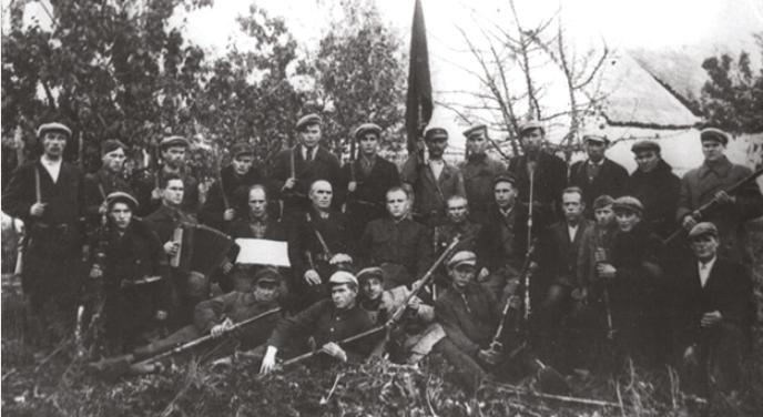 Единственное групповое фото участников освобождения