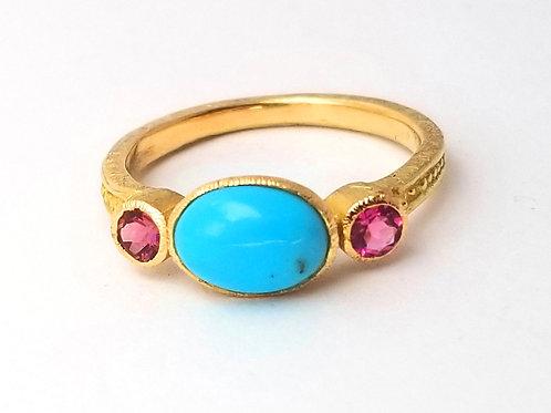 Princess Ring PM turquoise /pink