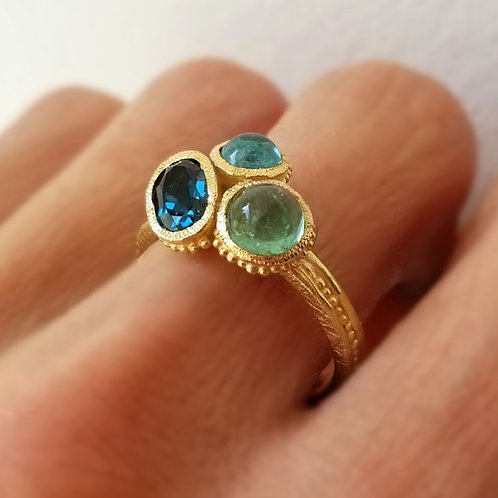 Blue Bouquet Ring