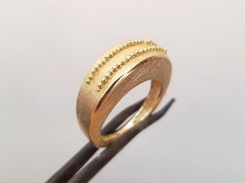 Gold Ring fine granulation