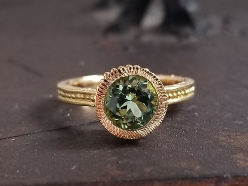 Roma green tourmaline ring