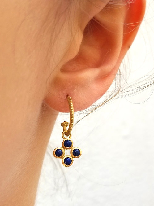 2 hoops and charms4 lapis lazulis