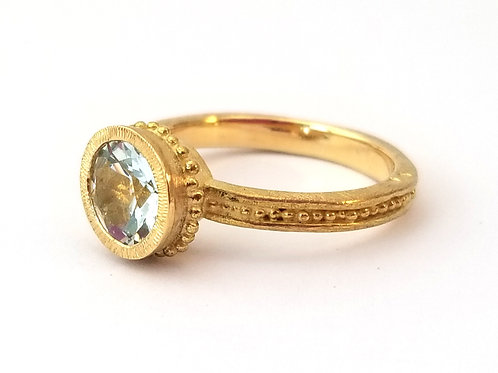 Roma ring, aquamarine 8mm