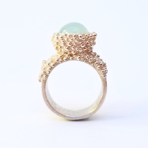 Iceberg - Silver ring with aquamarine