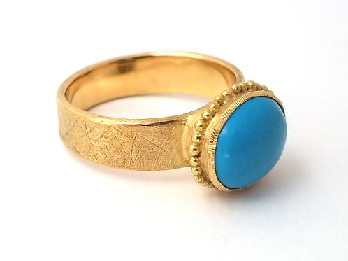 Roma ring oval big turquoise
