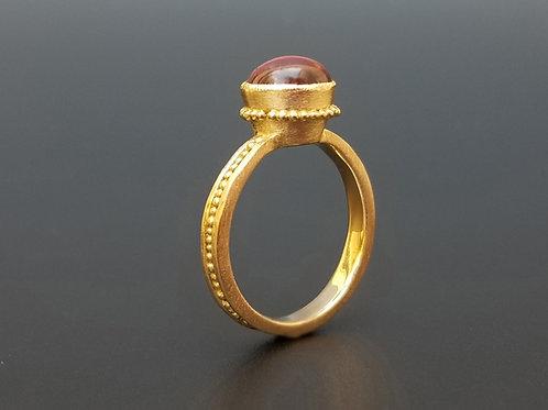 Roma ring pink cabochon tourmaline -