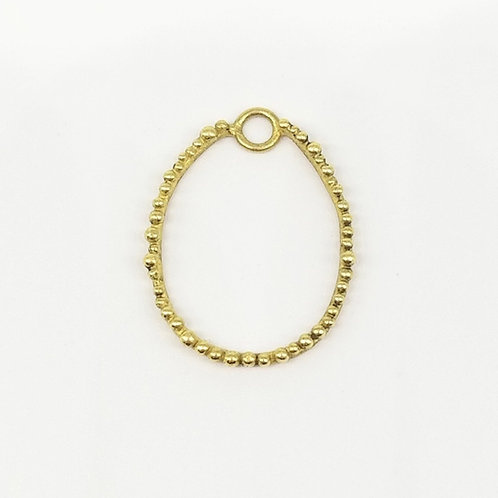 Gold single granulated charm