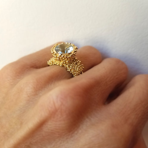 Bague Mousse d'or