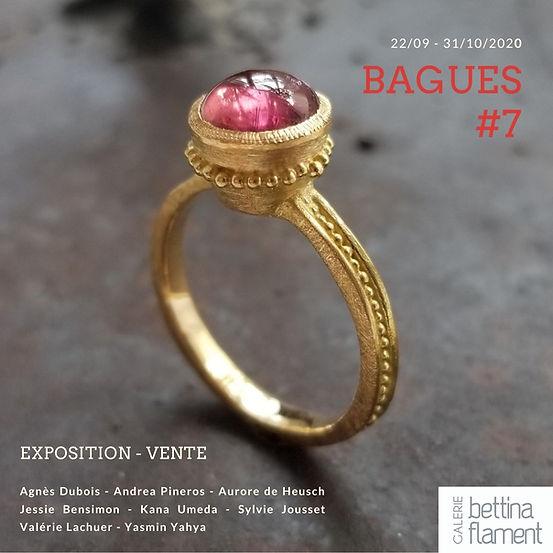 Bague en or de créateur réalisée à la main par Valérie Lachuer, exposée à la Galerie Bettina Flament Lille