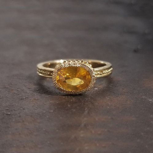 8x6 yellow sapphire oval Roma ring