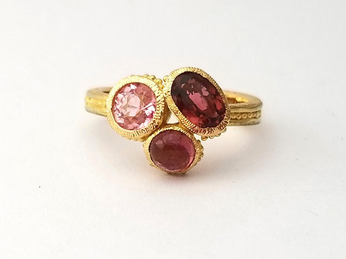 Bague Bouquet rose
