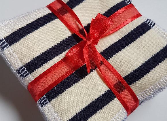 Lot de 10 carrés coton lavables *Marinette*