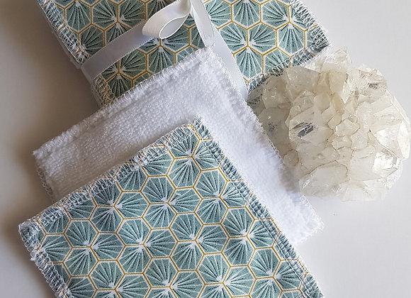 Lot de 10 carrés coton lavables *Mint*