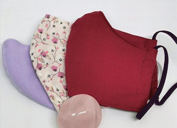 Lot de 3 masques de protection en tissu Taille Enfant
