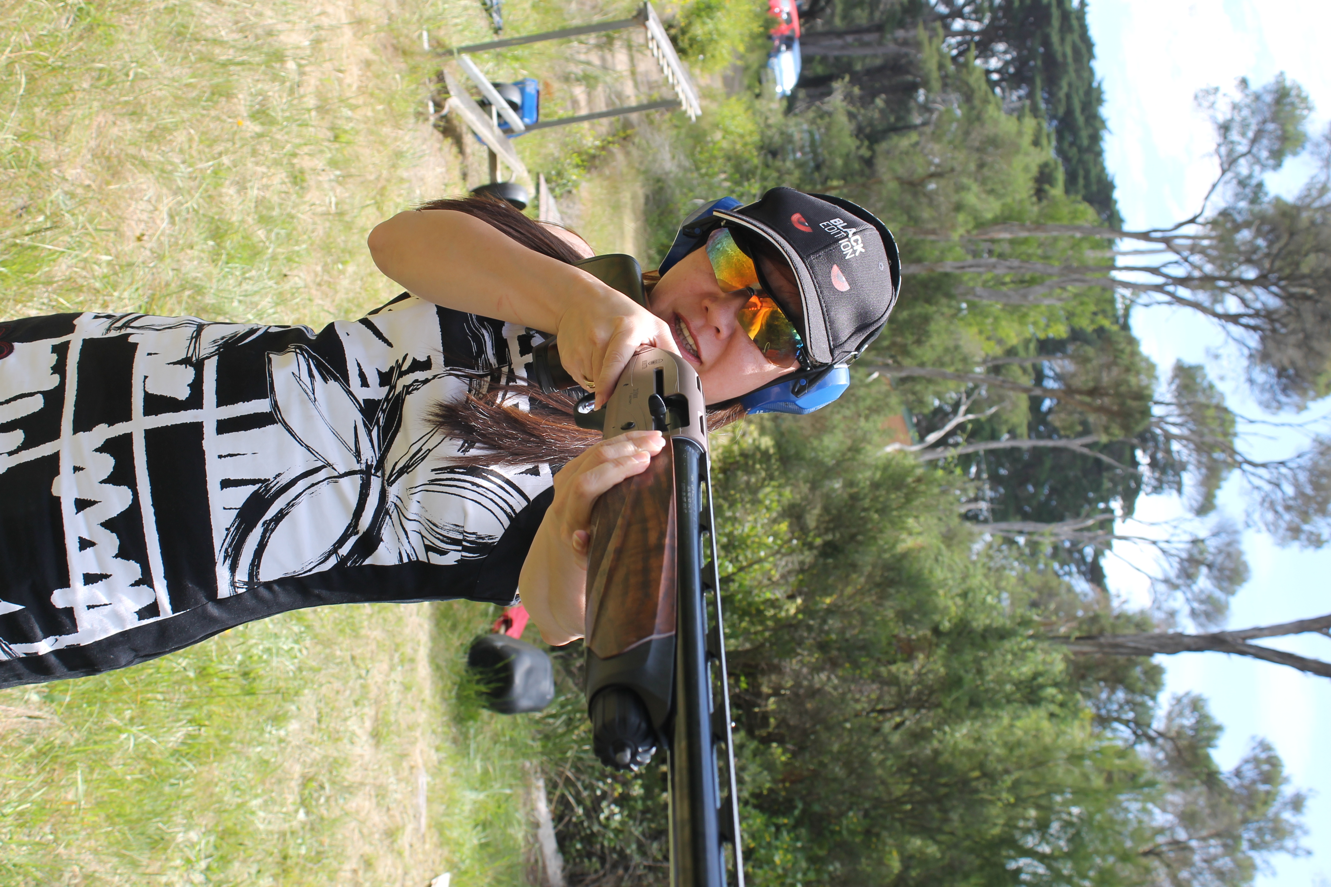 sporting clay shooting student