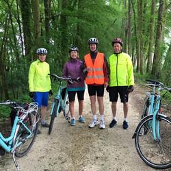 Carol, Ruth, John and Greg. Bike'n'Barge France. 2016