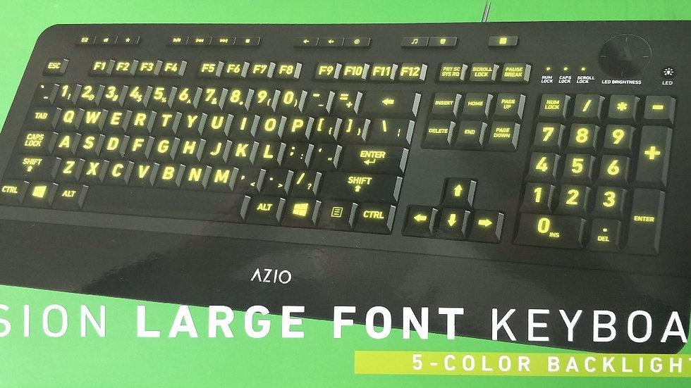 High Visibility Large Font USB Keyboard, 5 color backlit