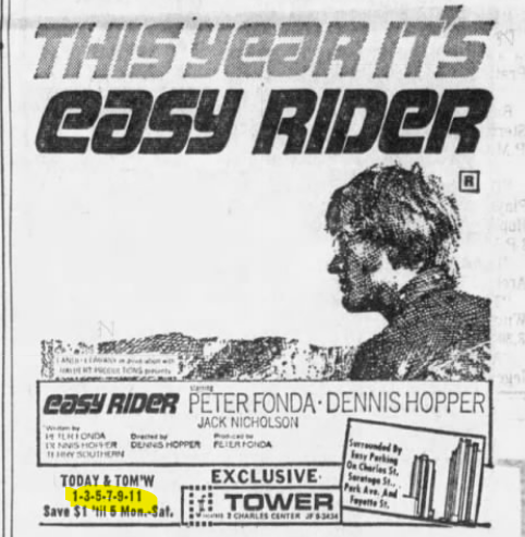 Close up of Easy Rider