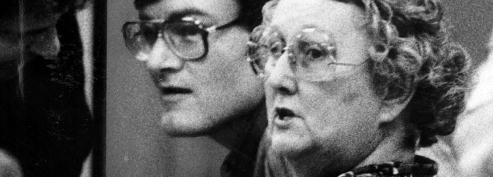 Defendant Raymond Buckey with his mother Peggy Buckey