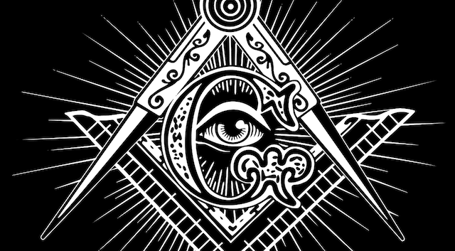 Stylized symbol of the Freemasons