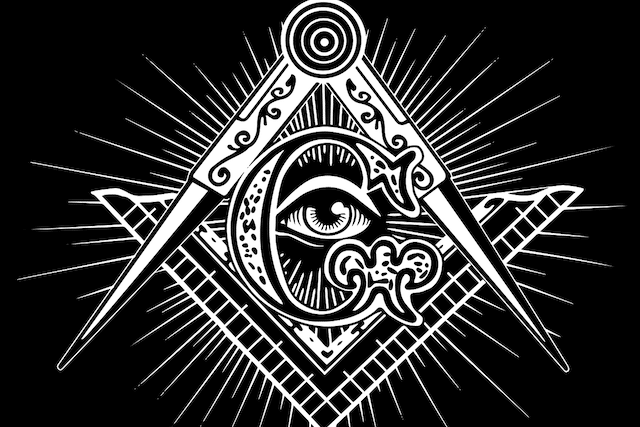 Stylized symbol of the Freemasons