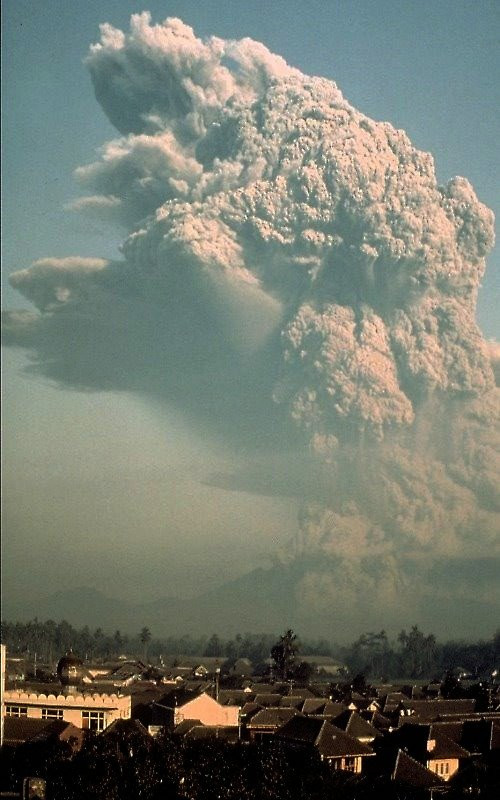 Mt. Galunggung Eruption in 1982