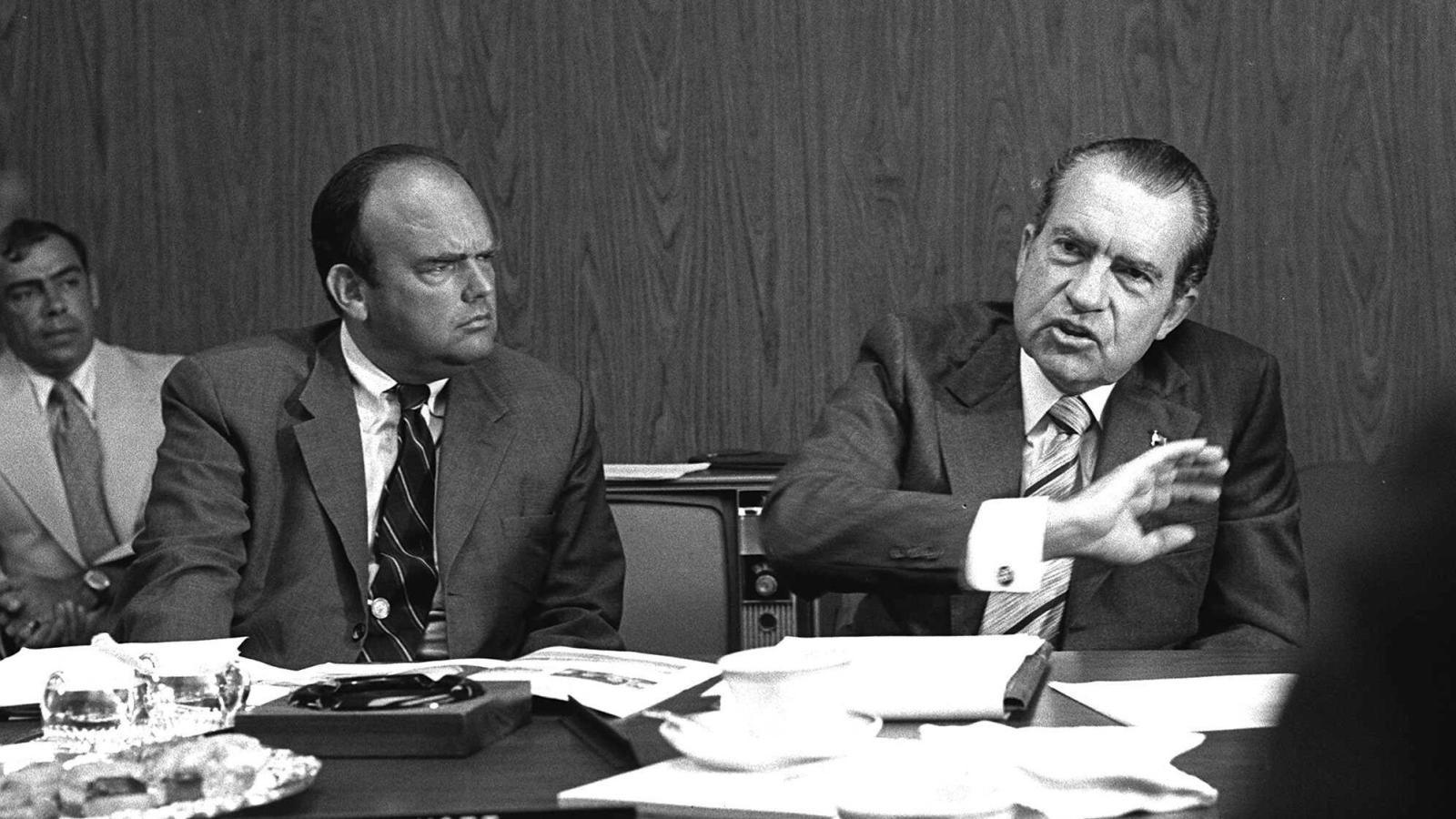 Richard Nixon pictured with John Ehrlichman