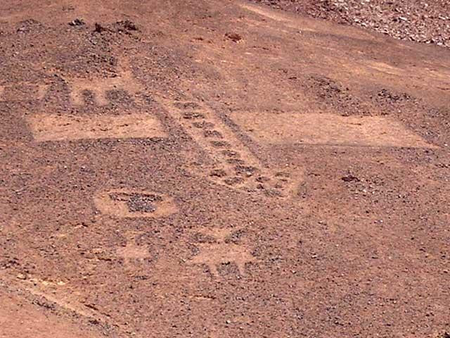 Pintados Cerros Glyphs in Chile