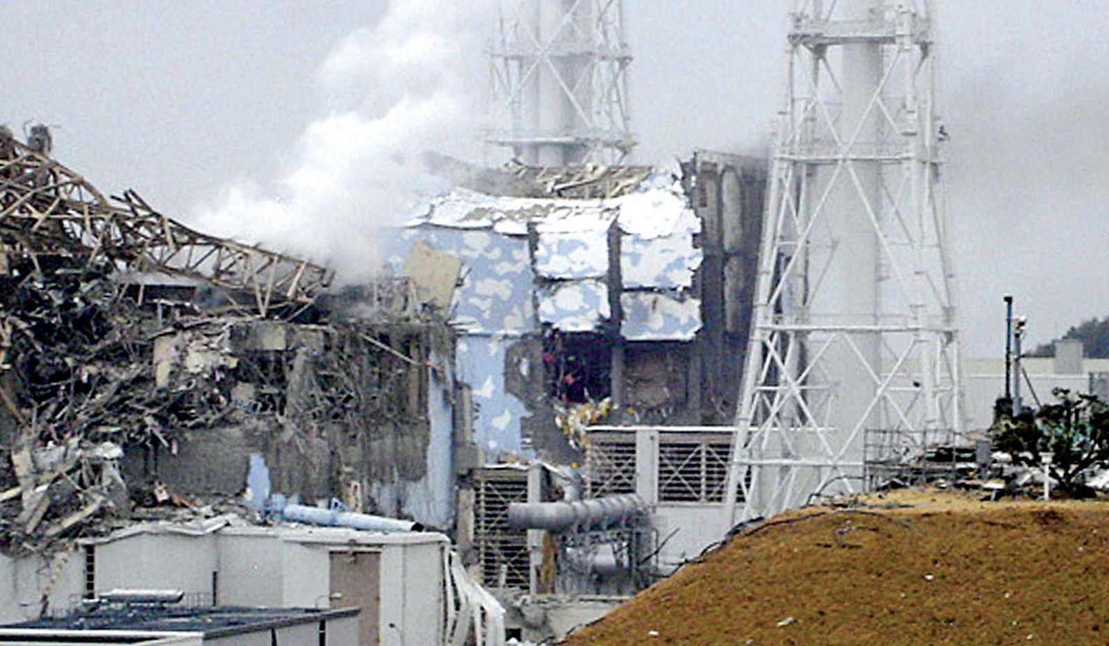 Containment buildings at Fukushima on March 11th, 2011