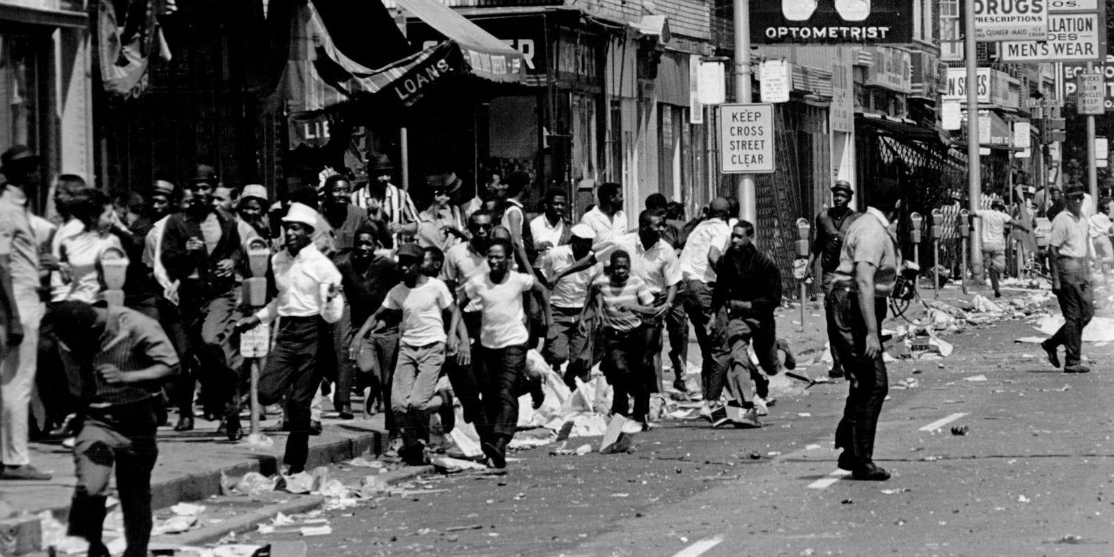 Destruction of the 1967 Detroit Riots