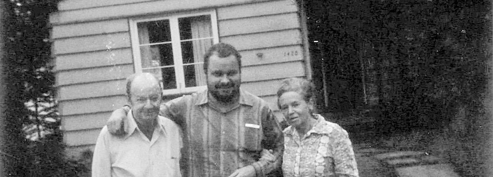 Granger with his stepfather Jim and his mother Grace