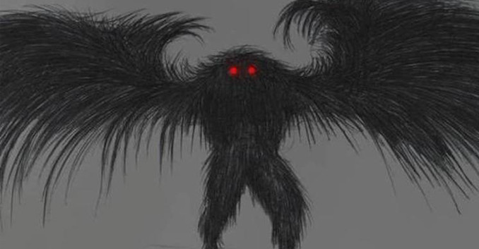 Artist Rendition of the Mothman