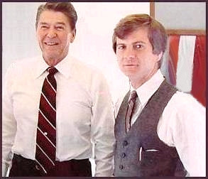 Ronald Reagan and advisor Lee Atwater