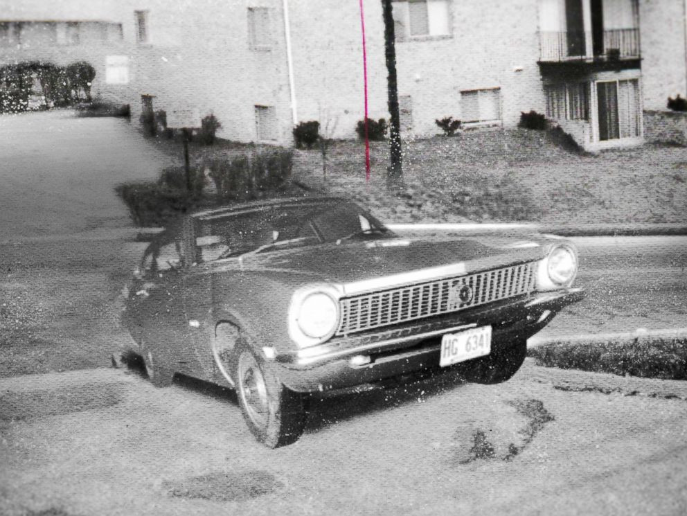 Cathy's car as it was discovered