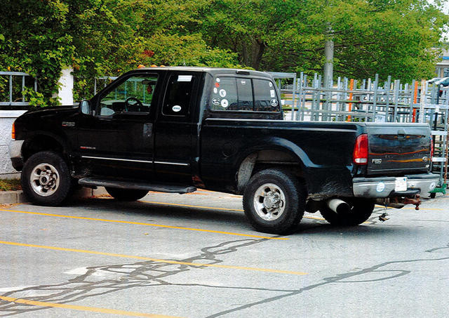 Conrad Roy's truck as it was discovered in the KMart parking lot