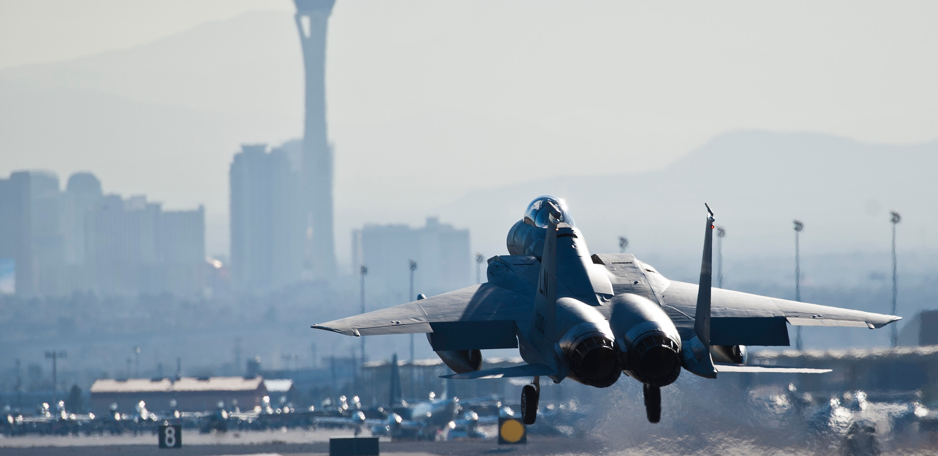 Take of from Nellis Air Force Base