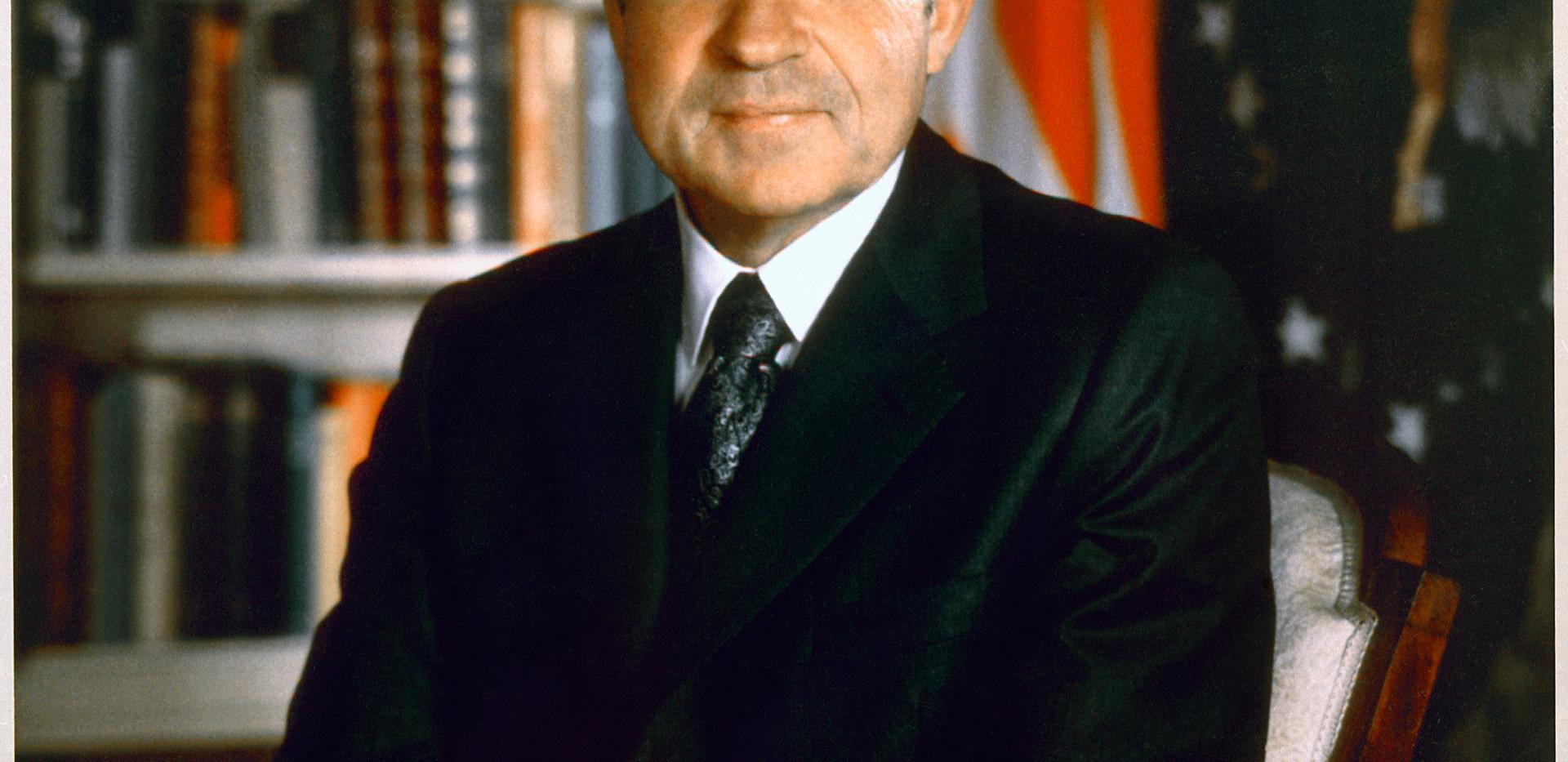 Richard Nixon's official presidential portait
