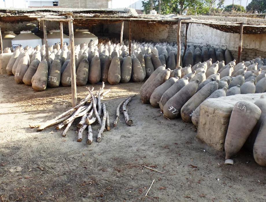 Lovera Distillery, Piscos Aging in Clay Pots