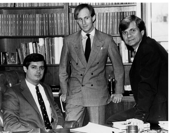 Paul Manafort (left), Roger Stone (cecnter) and Lee Atwater