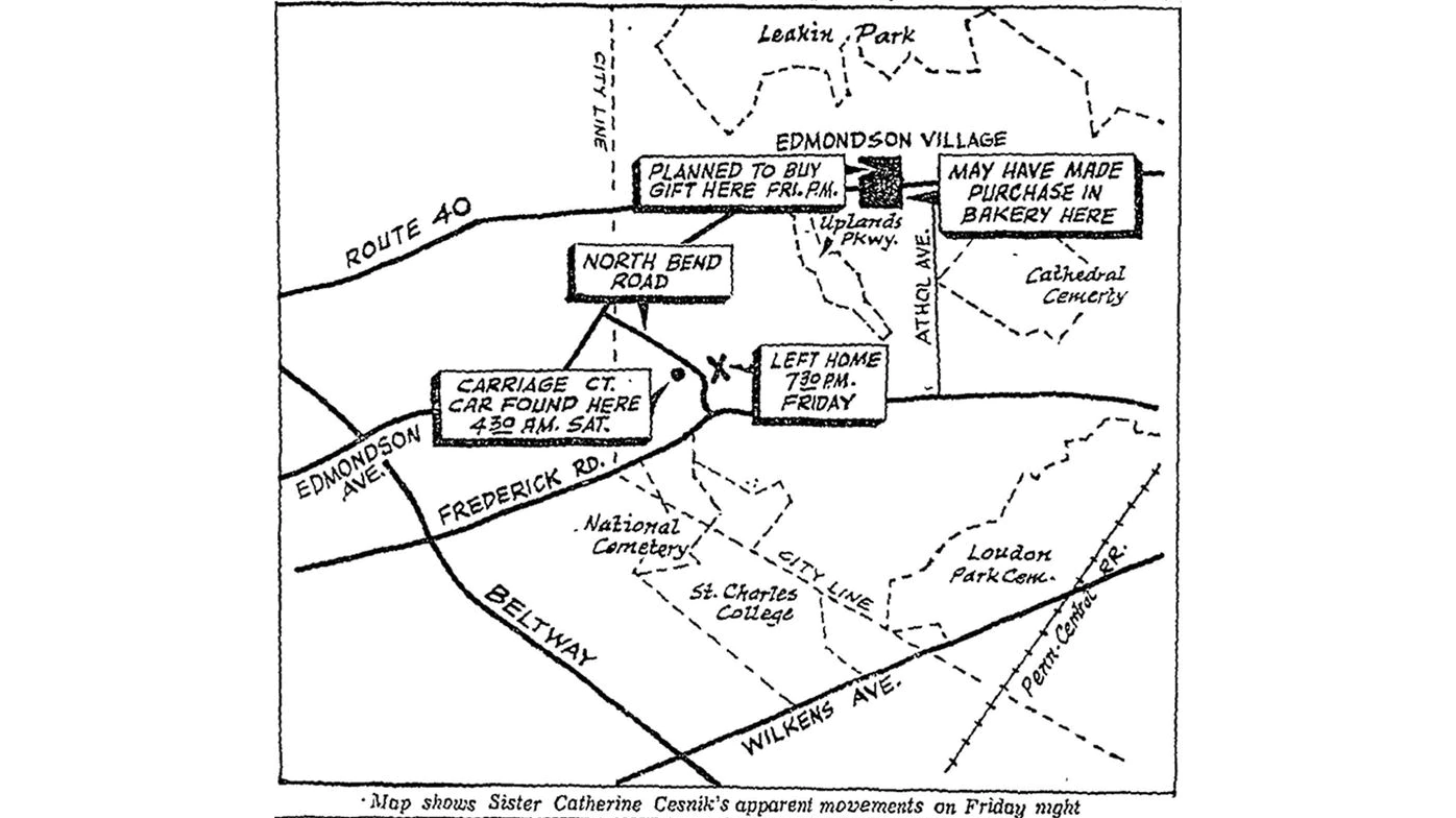 Map and timeline of events