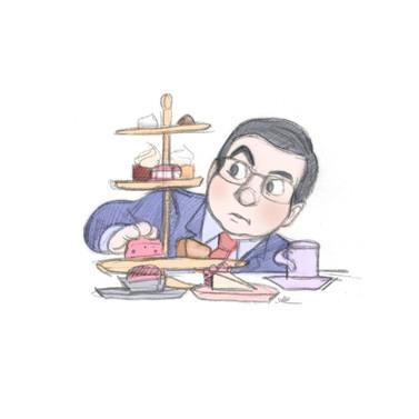 John with Cupcakes