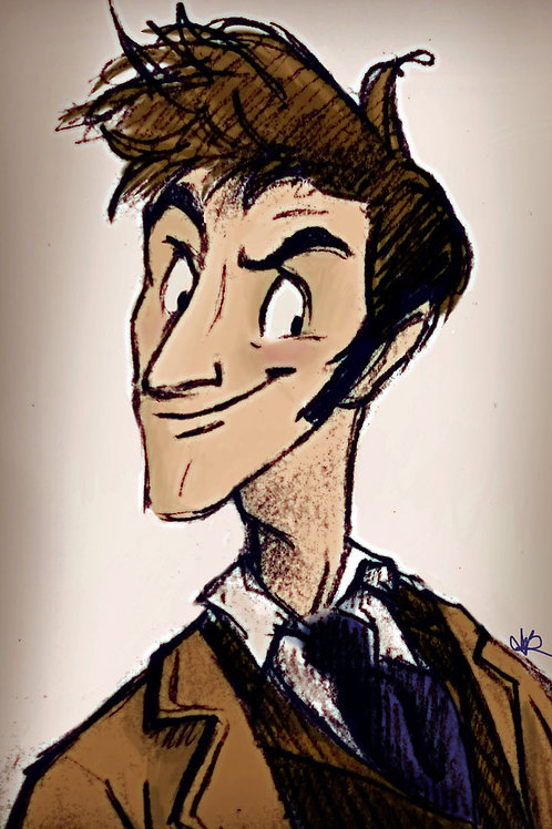 """""""NEW NEW DOCTOR"""" 4"""" x 6"""" Print"""