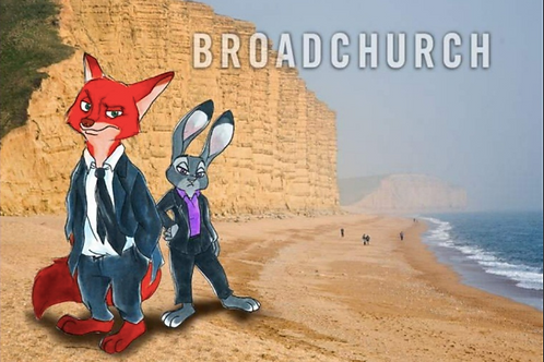 """BROADCHURCH ZOOTOPIA CROSSOVER"" 4 x 6"" PRINT"