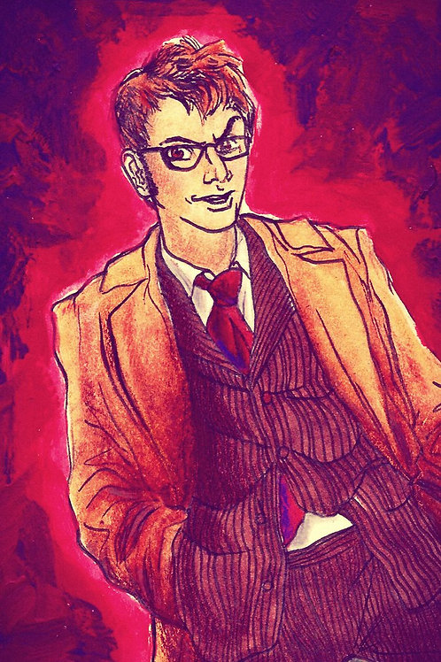 """""""TIME LORD IN MAGENTA""""4"""" x 6""""Print"""