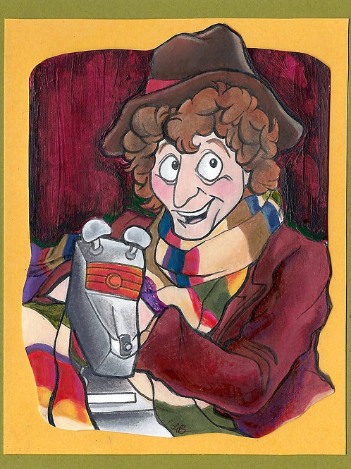 """FOURTH DOCTOR AND K-9""4 x 6 Print"