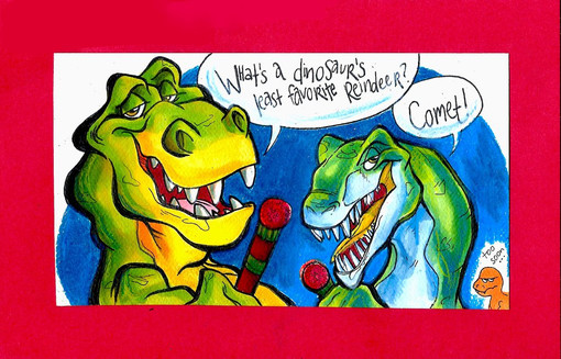 Dinosaurs Christmas Card