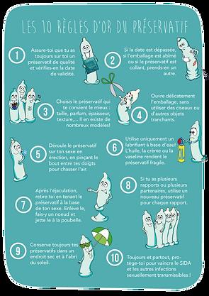 Les 10 règles d'or du préservatif - mode d'emploi