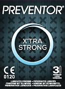 Preventor X'tra Strong, een dikker condoom met meer glijmiddel.